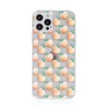 Kryt BABACO - pro Apple iPhone 12 / 12 Pro - gumový - průhledný - broskvičky