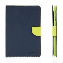 Pouzdro Mercury Goospery pro Apple iPad mini / mini 2 / mini 3 se stojánkem a prostorem na doklady - modro-zelené