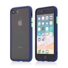 Kryt pro Apple iPhone 7 / 8 / SE (2020) - guma / plast - barevná tlačítka - tmavě modrý