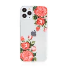 Kryt BABACO pro Apple iPhone 11 Pro - gumový - průhledný - růže
