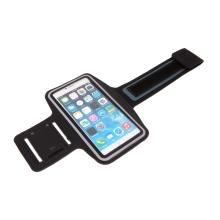 Sportovní pouzdro pro Apple iPhone 6 / 6s / 7 / 8 Plus a X / Xs / Xr - reflexní pruh - černé