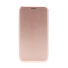 Pouzdro pro Apple iPhone 13 Pro Max - umělá kůže / gumové - Rose Gold růžové