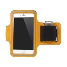 Sportovní pouzdro pro Apple iPhone 6 / 6S - oranžové s reflexním pruhem