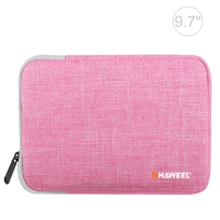 "Pouzdro se zipem HAWEEL pro Apple iPad 9,7"" / 10,2"" / 10,5"" / 11"" - látkové - růžové"