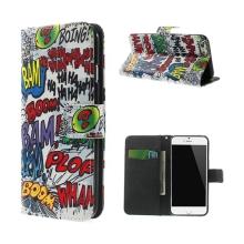 Pouzdro pro Apple iPhone 6 / 6S - stojánek a prostor pro platební karty - komiks styl