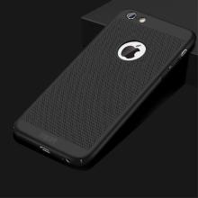 Kryt MOFi pro Apple iPhone 6 / 6S - perforovaný / s otvory - plastový - černý