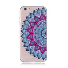 Kryt pro Apple iPhone 6 / 6S gumový - průhledný - květina