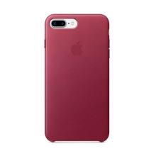 Originální kryt pro Apple iPhone 7 Plus / 8 Plus - kožený - malinový