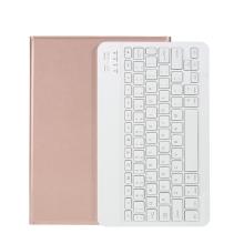 """Klávesnice Bluetooth - odnímatelná + kryt / pouzdro pro Apple iPad Pro 11"""" / 11"""" (2020) - Rose Gold růžová"""