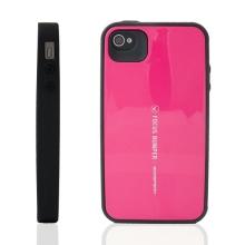 Plasto-gumový kryt Mercury Focus Bumper pro Apple iPhone 4 / 4S - růžový