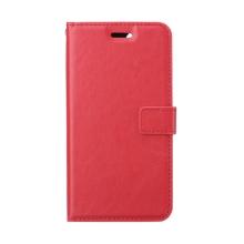 Pouzdro pro Apple iPhone 12 / 12 Pro - stojánek - umělá kůže - červené