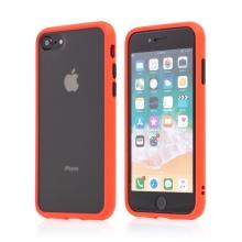 Kryt pro Apple iPhone 7 / 8 / SE (2020) - guma / plast - barevná tlačítka - červený