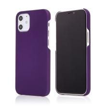Kryt pro Apple iPhone 12 mini - plastový - měkčený povrch - fialový