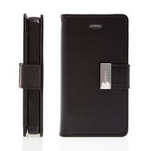Vyklápěcí pouzdro - peněženka Mercury pro Apple iPhone 4 / 4S - s prostorem pro umístění platebních karet - černé