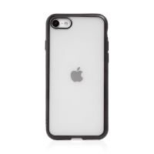 Kryt FORCELL Electro Matt pro Apple iPhone 7 / 8 / SE (2020) - gumový - průhledný / černý