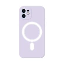 Kryt pro Apple iPhone 12 mini - Magsafe - silikonový - fialový