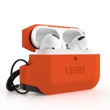 Pouzdro / obal UAG pro Apple AirPods Pro - s karabinou - silikonové - oranžové / černé