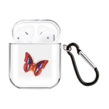 Pouzdro / obal pro Apple AirPods - gumové - barevný motýl
