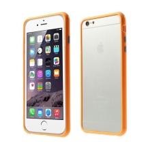 Plasto-gumový rámeček / bumper pro Apple iPhone 6 Plus / 6S Plus - oranžový