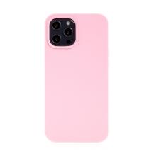 Kryt pro Apple iPhone 12 / 12 Pro - gumový - příjemný na dotek - růžový