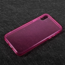 Kryt pro Apple iPhone X - gumový - růžový