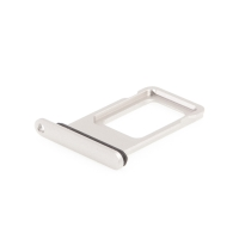 Rámeček / šuplík na Nano SIM pro Apple iPhone 11 - bílý - kvalita A+