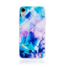 Kryt BABACO pro Apple iPhone Xr - gumový - mlhovina - růžový / modrý