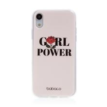 Kryt BABACO pro Apple iPhone Xr - gumový - GIRL POWER