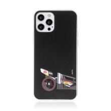 Kryt HOT WHEELS - pro Apple iPhone 12 / 12 Pro - gumový - formule - černý