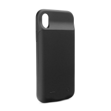 Externí baterie / kryt pro Apple iPhone X / Xs - 3000 mAh - matná - černá