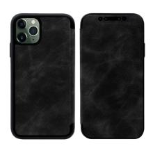 Pouzdro Pro Apple iPhone 11 Pro - umélá kůže / gumové - černé