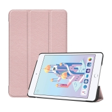 Pouzdro pro Apple iPad mini 4 / mini 5 - stojánek + funkce chytrého uspání - umělá kůže - Rose Gold růžové