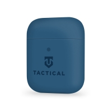 Pouzdro / obal TACTICAL pro Apple AirPods - příjemné na dotek - silikonové - tmavě modré