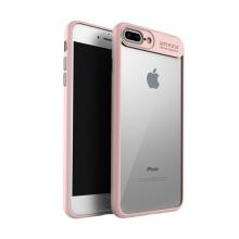 Kryt IPAKY pro Apple iPhone 7 Plus / 8 Plus - plastový / gumový - průhledný / růžový