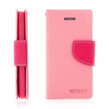 Ochranné pouzdro pro Apple iPhone 5 / 5S / SE Mercury se stojánkem a prostorem pro umístění platebních karet - růžové