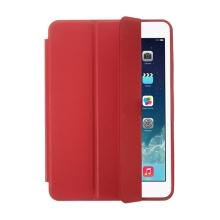 Pouzdro / kryt pro Apple iPad mini 1 / 2 - funkce chytrého uspání + stojánek - červené