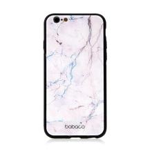 Kryt BABACO pro Apple iPhone 6 / 6S - skleněný - růžový mramor