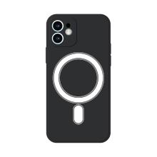 Kryt pro Apple iPhone 12 - Magsafe - silikonový - černý