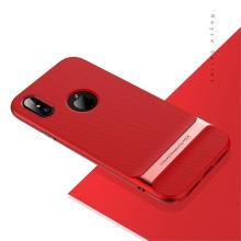 Kryt ROCK Royce pro Apple iPhone X - gumový / plastový - červený