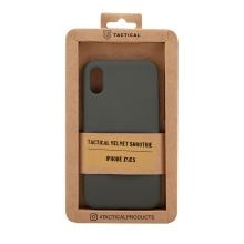 Kryt TACTICAL Velvet Smoothie pro Apple iPhone X / Xs - příjemný na dotek - silikonový - olivově zelený