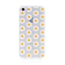 Kryt BABACO pro Apple iPhone 7 / 8 / SE (2020) - gumový - kopretiny - průhledný