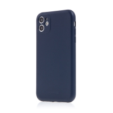 Kryt SWISSTEN Soft Joy pro Apple iPhone 11 - příjemný na dotek - silikonový - tmavě modrý