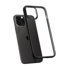 Kryt SPIGEN Ultra hybrid pro Apple iPhone 12 / 12 Pro - plastový / gumový / průhledný - černý