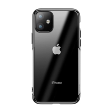Kryt BASEUS Shining pro Apple iPhone 11 - gumový - pokovený - průhledný / černý