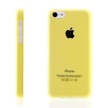 Ultra tenký ochranný kryt pro Apple iPhone 5C (tl. 0,3 mm) - plastový - matný - žlutý