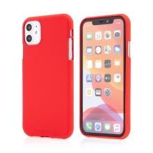 Kryt MERCURY Soft feeling pro Apple iPhone 11 - gumový - červený