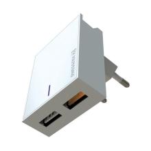 Nabíječka / EU adaptér SWISSTEN - 2x USB (QC 3.0) - 23W - bílá
