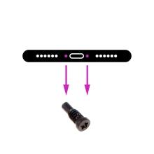 Šroubek na spodní část Apple iPhone 8 / 8 Plus - černý - kvalita A+
