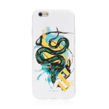 Kryt Harry Potter pro Apple iPhone 6 / 6S - gumový - had Zmijozelu