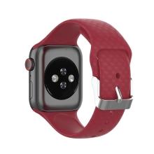 Řemínek pro Apple Watch 41mm / 40mm / 38mm - 3D textura - silikonový - červený